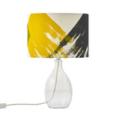 Geometric brushstroke lampshade: grey/yellow