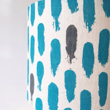 Small brushstrokes lampshade: blue/grey