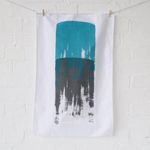 Tea towel: grey/blue