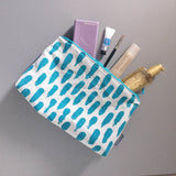 Small brushstroke washbag in blue or magenta