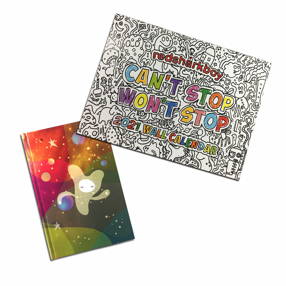 Holiday Combo #3 Color-Your-Own Calendar with Daydreamer Dreamkeeper Journal