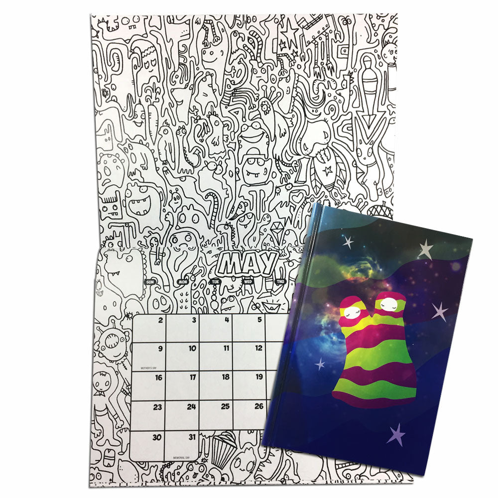 Holiday Combo #1 Color-Your-Own Calendar with Dream Twins: Dreamkeeper Journal