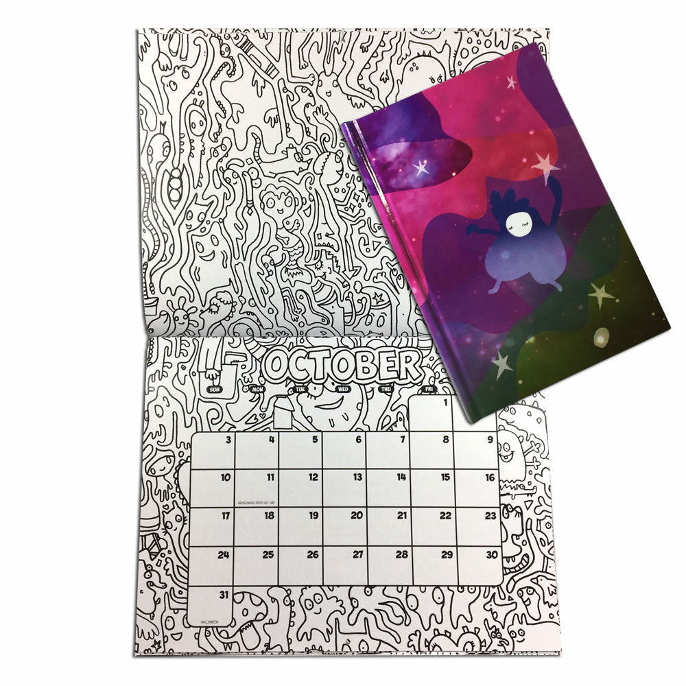 Holiday Combo #2 Color-Your-Own Calendar with Dream Jumper: Dreamkeeper Journal