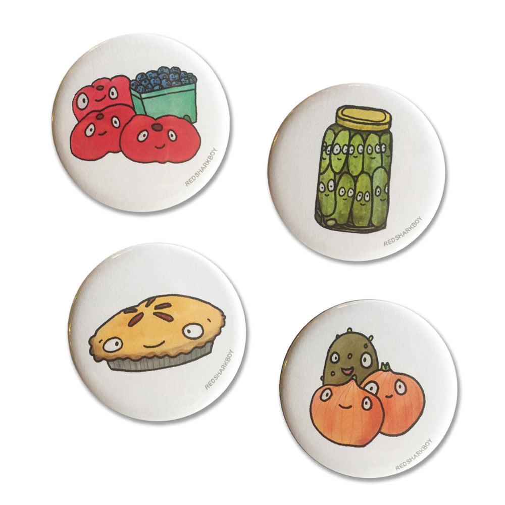 Veggies Alive! Magnets (Set of 4)