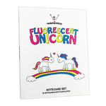 Fluorescent Unicorn Notecards (Set of 8)