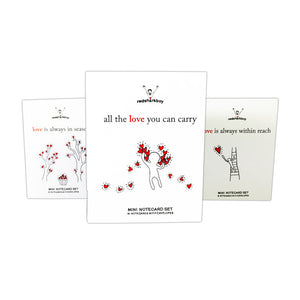 All the Love You Can Carry Mini Notecards (Set of 16)