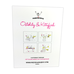 Octolily & Kittyfish Notecards (Set of 8)