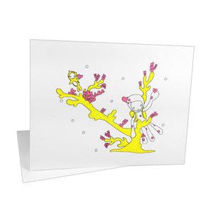 Octolily & Kittyfish in Valentine Reef Notecards (Set of 8)