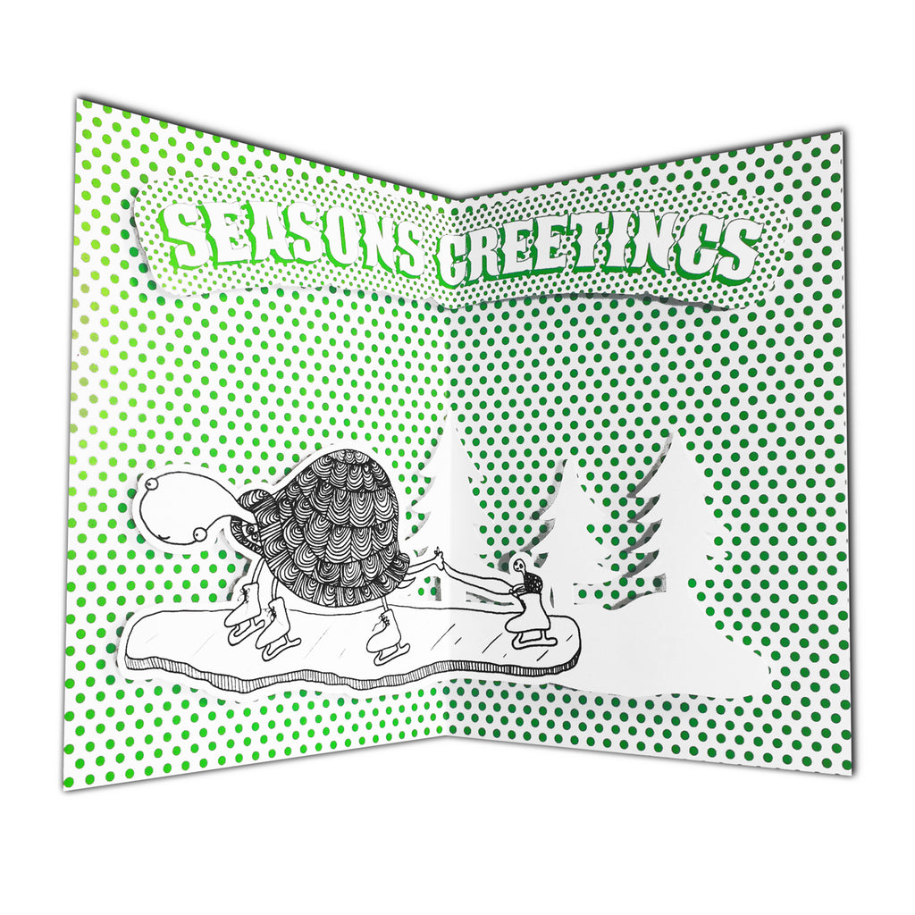 Pop-Up Holiday Card: Turtles Skating