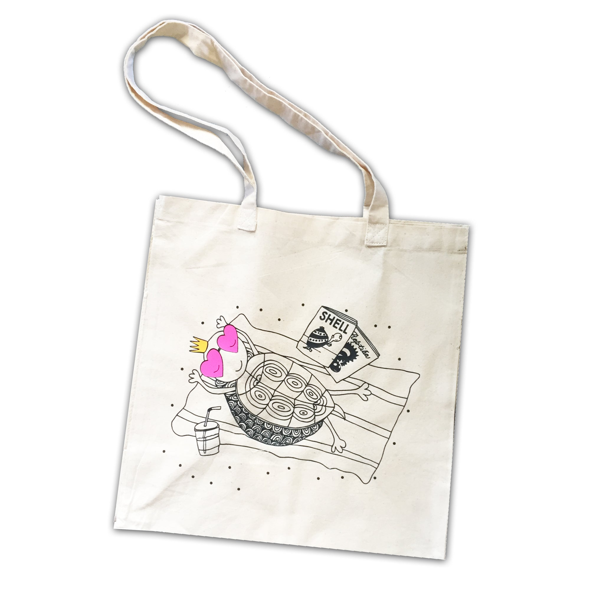 Turtle on the Beach Canvas Tote