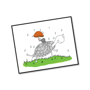 Redsharkboy - Mushroom Umbrella Framed Print