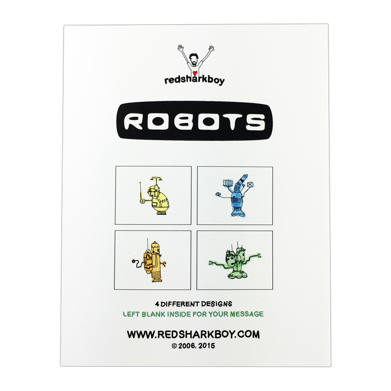Robots Notecards (Set of 8)