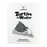 Turtles In Winter Notecards (Set of 8)