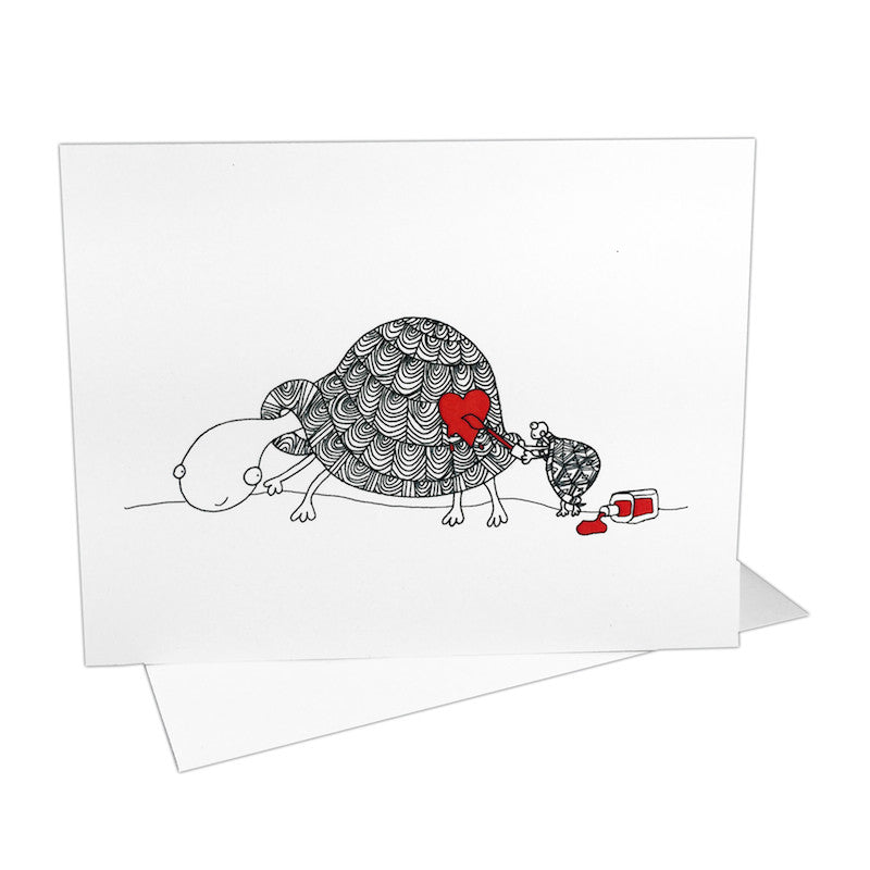 Turtles on Valentine's Day Notecards (Set of 8)