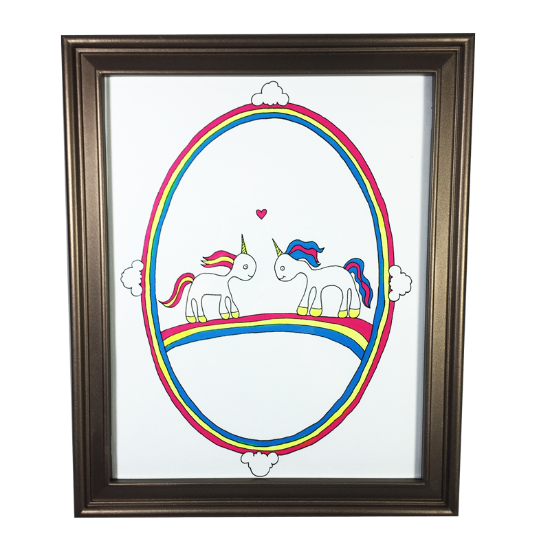 Unicorns in Love Print (8x10)
