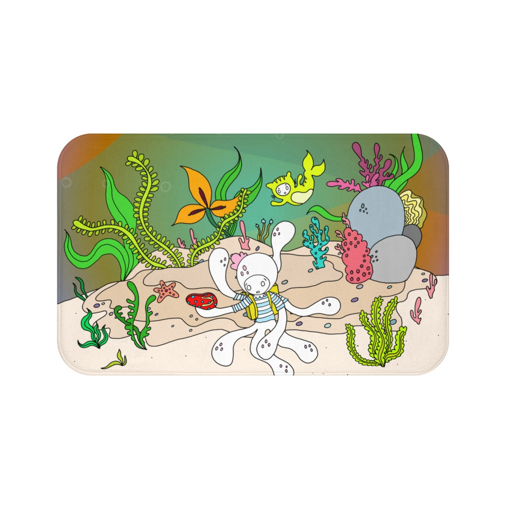 Octolily & Kittyfish Bath Mat
