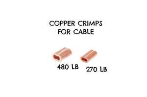 Copper Crimp Sleeve for Cable