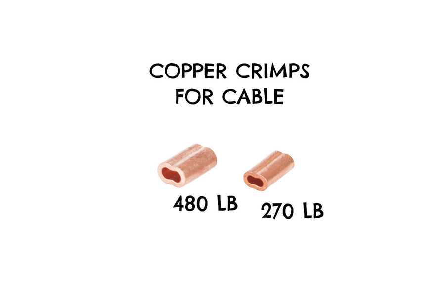 Copper Crimp Sleeves/30 Pack