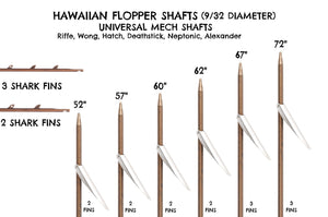 American Speargun Shaft (9/32 Pencil Point Hawaiian Flopper)