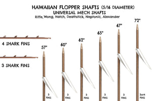 American Speargun Shaft (5/16 Diameter Pencil Point Hawaiian Flopper)