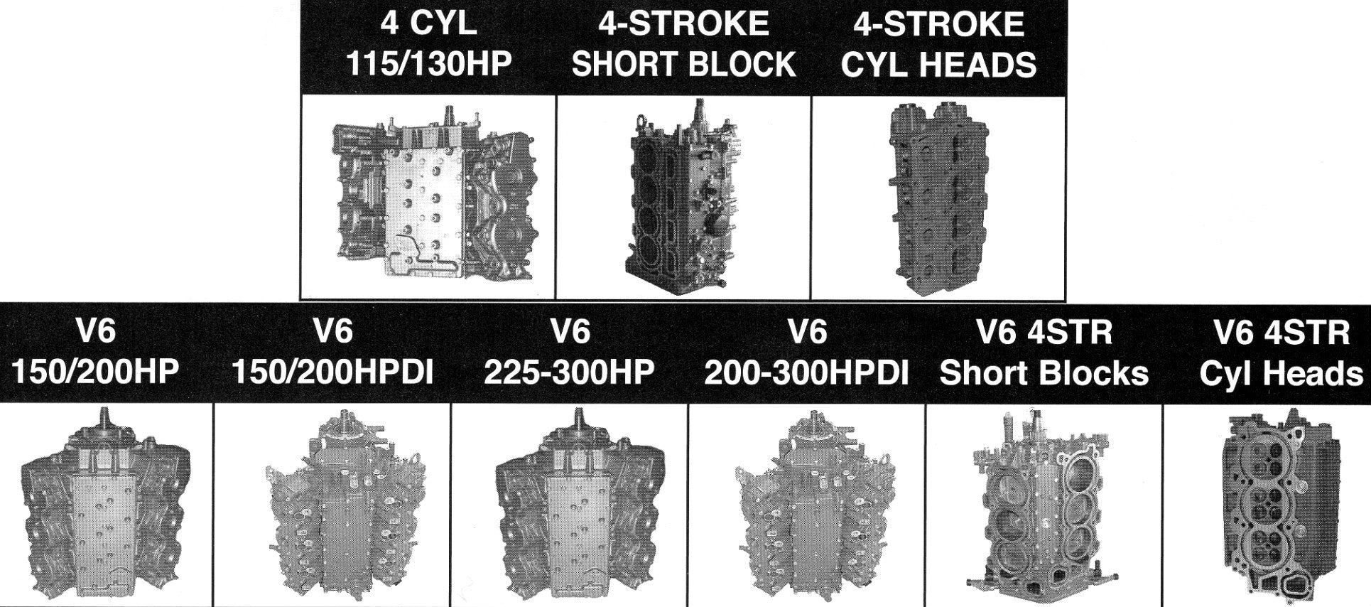 Yamaha Short Block V6 200-300hp 2010-Up