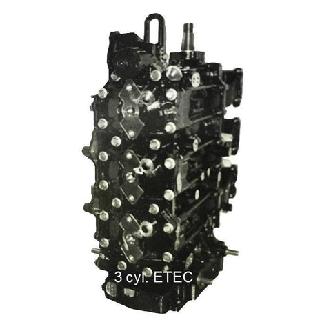 Johnson-Evinrude-BRP 3-Cyl. ETEC Remanufactured Powerhead 75-90 HP 2004-2012