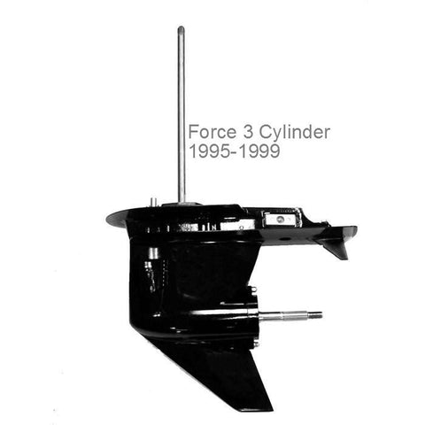 Force Outboard Lower Unit, 3-Cyl. 75/90 HP, 1995-1999