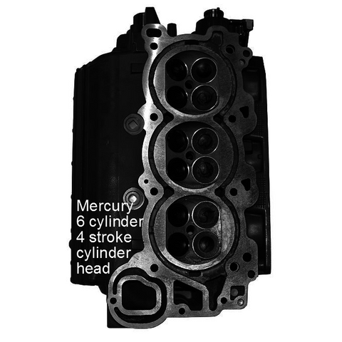 Mercury-Mariner Outboard  6-Cyl. 4-Stroke Remanufactured Cylinder Head 225HP 2004-Up