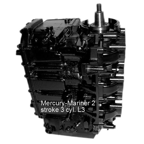 Mercury-Mariner Remanufactured 3-Cyl. L3 Powerhead 70-90 HP 1987-2010