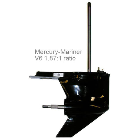 Mercury Outboard Lower Unit V6 150, 175, 200, & 150 DFI hp 1.87:1 ratio, 1979-2015