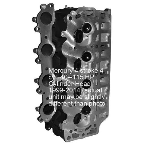 Mercury-Mariner Remanufactured 4-Cyl. 4-Stroke Cylinder Head 40-115 HP 1999-2014