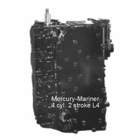 "Mercury-Mariner Re-manufactured 4-Cyl. ""L4"" Power head 100/115/125 HP 1988-2006"