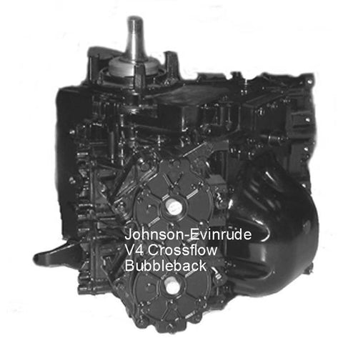 Johnson-Evinrude Powerhead V4 Crossflow Bubbleback 110-140 HP 1978-1998