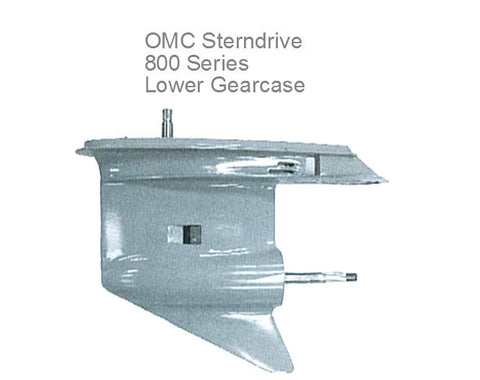 OMC 800 Series Lower Unit 1978-1985