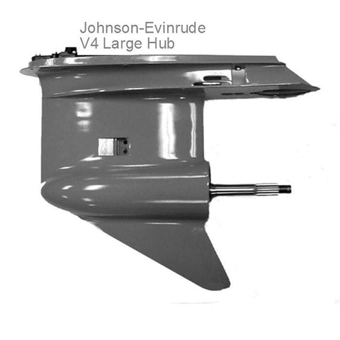 "Johnson-Evinrude New V4 ""Large"" Gearcase Lower Unit For Newer-Style 2-Piece Drive Shaft"