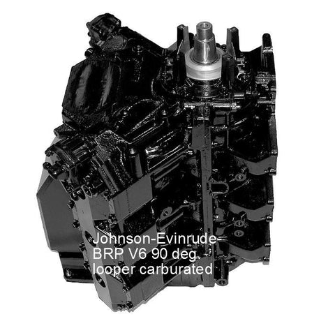 Johnson-Evinrude-BRP Remaufactured Powerhead V6 90-Deg. Looper Carb 200-250 HP 1986-2001