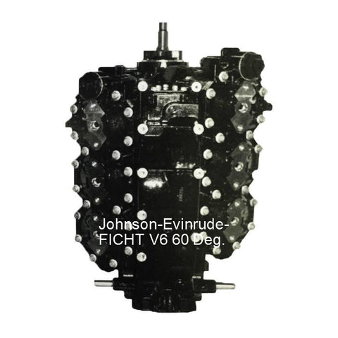 Johnson-Evinrude-BRP FICHT Remanufactured Powerhead V6 60-Deg. 135, 150, 175 HP