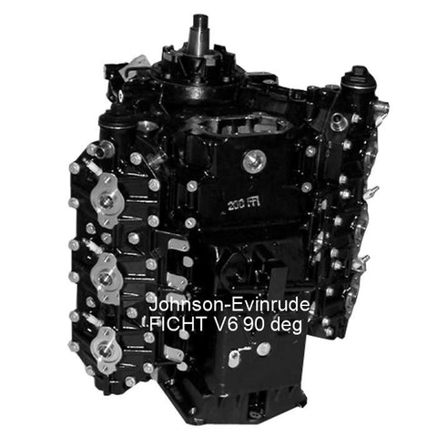 Johnson-Evinrude-BRP FICHT Remanufactured Powerhead V6 90-Deg. 200-250 HP