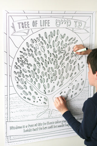 Printable Tree of Life Coloring Poster