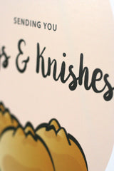 Sending You Hugs & Knishes - Jewish Greeting Card