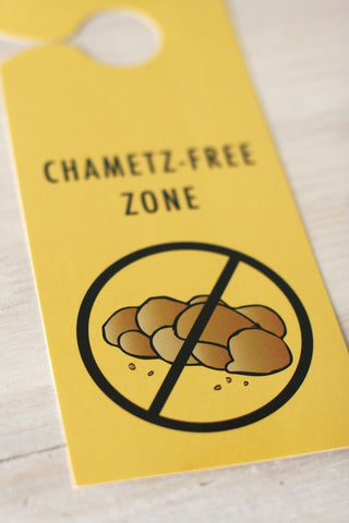 'Chametz Free Zone' Door Hanger, Set of 10