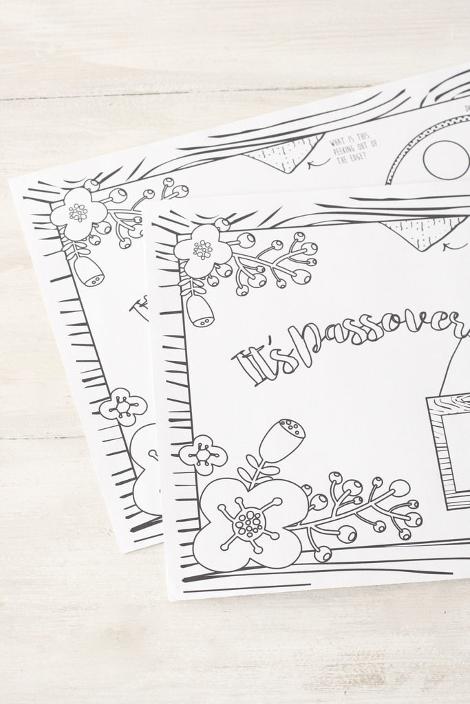 Passover Coloring Placemats – Chai & Home: The Shop