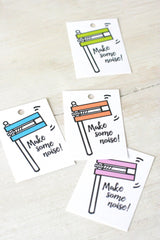 Printable Purim Gragger Gift Tags