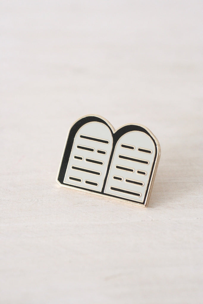 Stone Tablets Enamel Pin