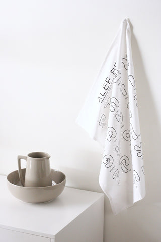 Alef Bet Kitchen Towel / Challah Cover