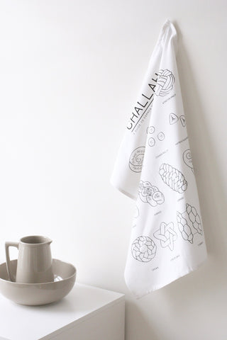 Challah Shapes Kitchen Towel