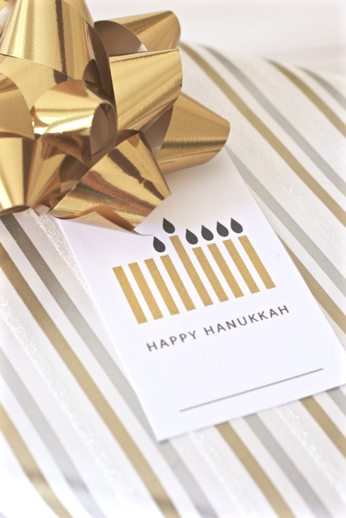 Printable Hanukkah Gift Tags