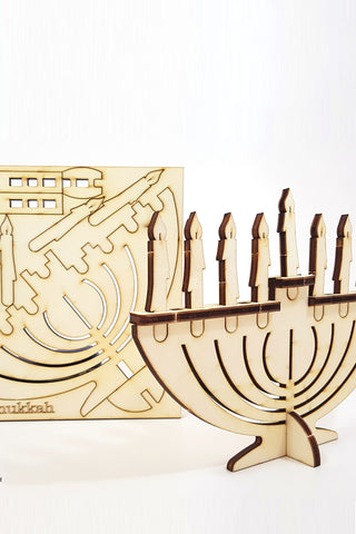 Wood Display Menorah