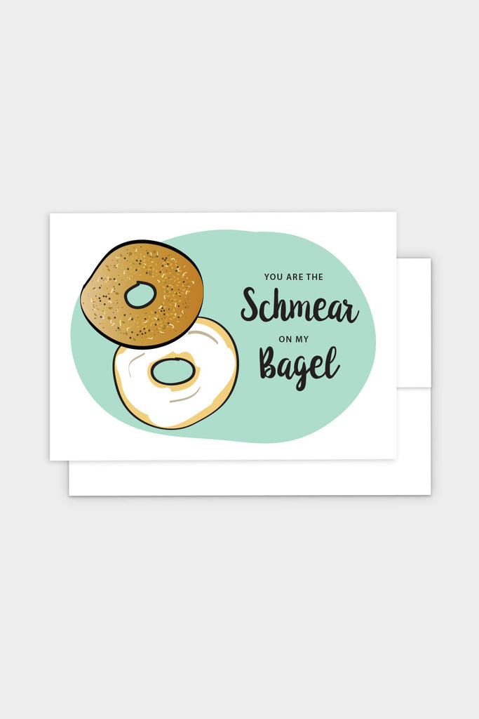 Schmear On My Bagel Funny Jewish Greeting Card Chai Home The Shop
