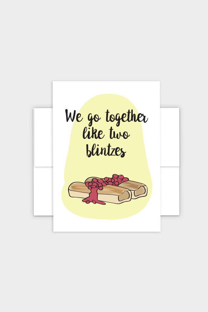 Two Blintzes Greeting Card